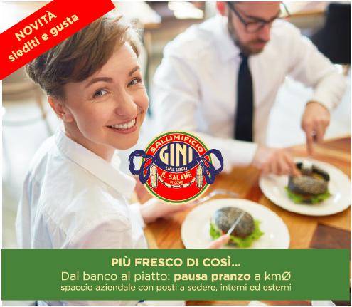 Pausa pranzo spaccio Salumificio Gini