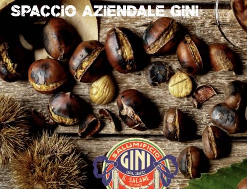 Caldarroste gratis in piazza sabato 23 ottobre per i clienti del Salumificio Gini